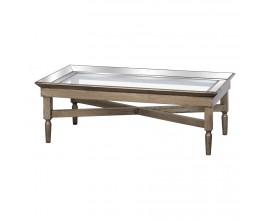 Luxusný zrkadlový konferenčný stolík ASTOR