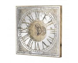 Dizajnové štvorcové nástenné hodiny 81cm