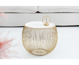 Dizajnový príručný stolík Storage 41cm zlatá
