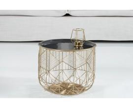 Dizajnový Art Deco príručný stolík Storage 36cm zlatá