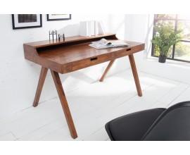 Jedinečný dizajnový písací stôl z masívneho dreva Akacia