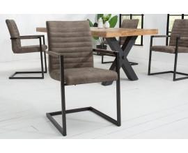 Dizajnová prešívaná stolička Modern Royal tmavosivá