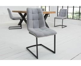 Dizajnová moderná stolička Suava sivá