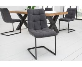 Dizajnová moderná stolička Suava II tmavosivá