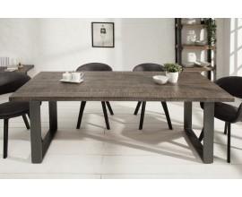 Štýlový industriálny jedálenský stôl z masívu Steele Craft 160cm sivá