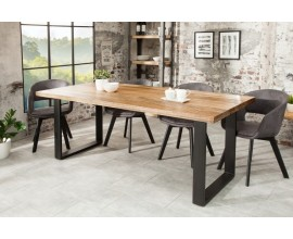 Štýlový industriálny jedálenský stôl z masívu Steele Craft 160cm mango