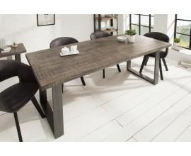 Industriálny jedálenský stôl z masívu Steele Craft 200cm sivá