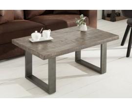 Industriálny konferenčný stolík z masívu Steele Craft 100cm sivá