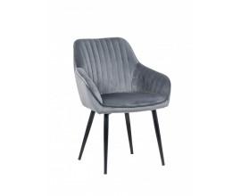 Dizajnová stolička Timeless Comfort striebro šedá