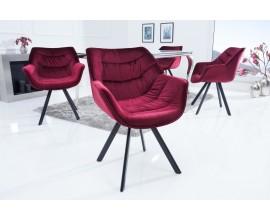 Štýlová zamatová stolička Antik červená