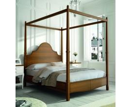 Luxusná elegantná posteľ s baldachýnom VOLGA