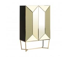 Dizajnová zrkadlová skriňa SAANEN v Art Deco štýle