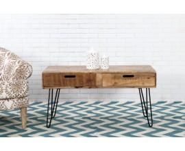 Dizajnový konferenčný stolík z masívu Leeds 100cm
