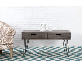 Dizajnový konferenčný stolík z masívu Leeds 100cm sivý