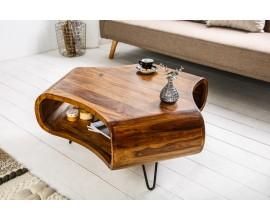 Dizajnový konferenčný stolík z masívu 90cm Spin