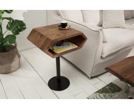 Dizajnový príručný stolík z masívu Sheesham