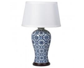 Luxusná keramická stolná lampa CHINA modrá