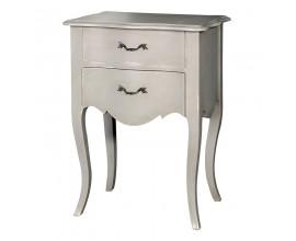 Dizajnový vidiecky nočný stolík Crema s dvomi zásuvkami
