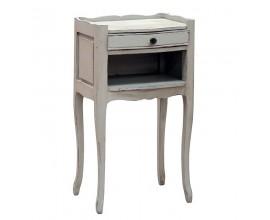 Dizajnový vidiecky nočný stolík Crema