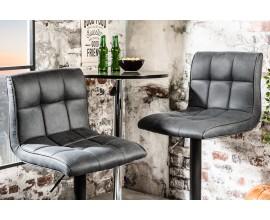 Barová stolička Modena 95-115 cm sivá