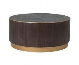Dizajnový čierny okrúhly konferenčný stolík Ramia