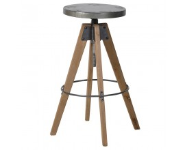 Dizajnová industriálna barová stolička Crempton