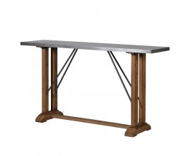 Dizajnový industriálny barový stôl Crempton
