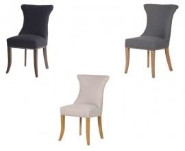 Moderná luxusná jedálenská stolička Maripose s klopadlom sivá, čierna, krémová 96cm