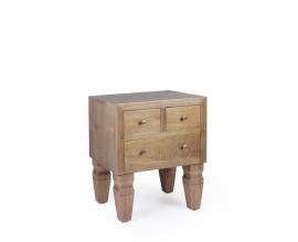 Luxusný koloniálny nočný stolík MADERA z masívu