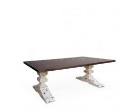 Jedinečný masívny jedálenský stôl BLANC