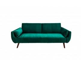 Štýlová rozkladacia sedačka Domingo zelený zamat