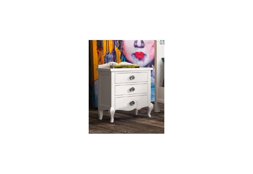 Luxusný elegantný stolík so zásuvkami VOLGA