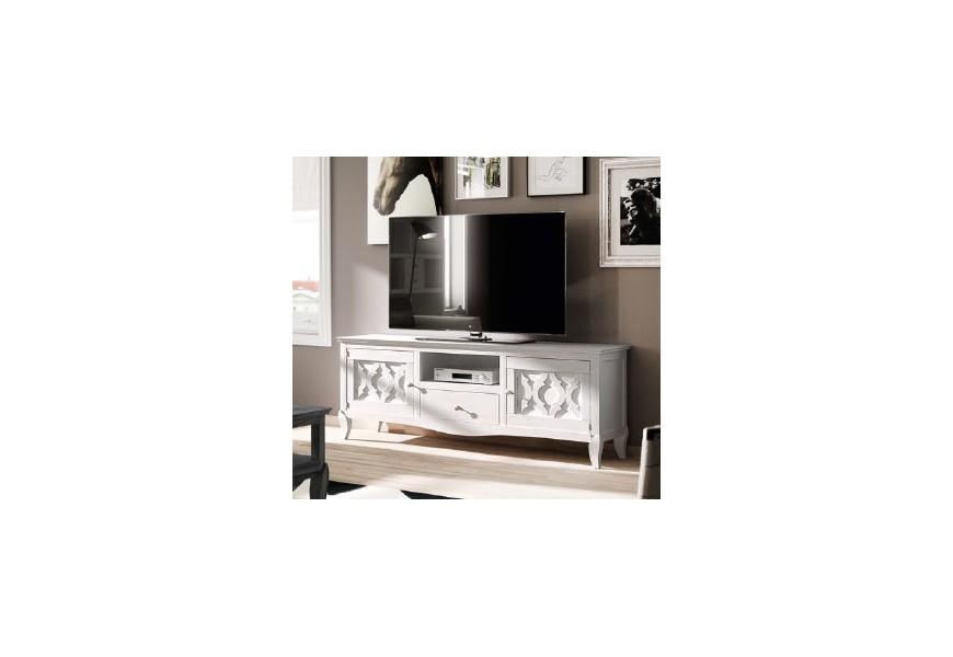 Štýlový TV stolík s dvierkami BASILEA
