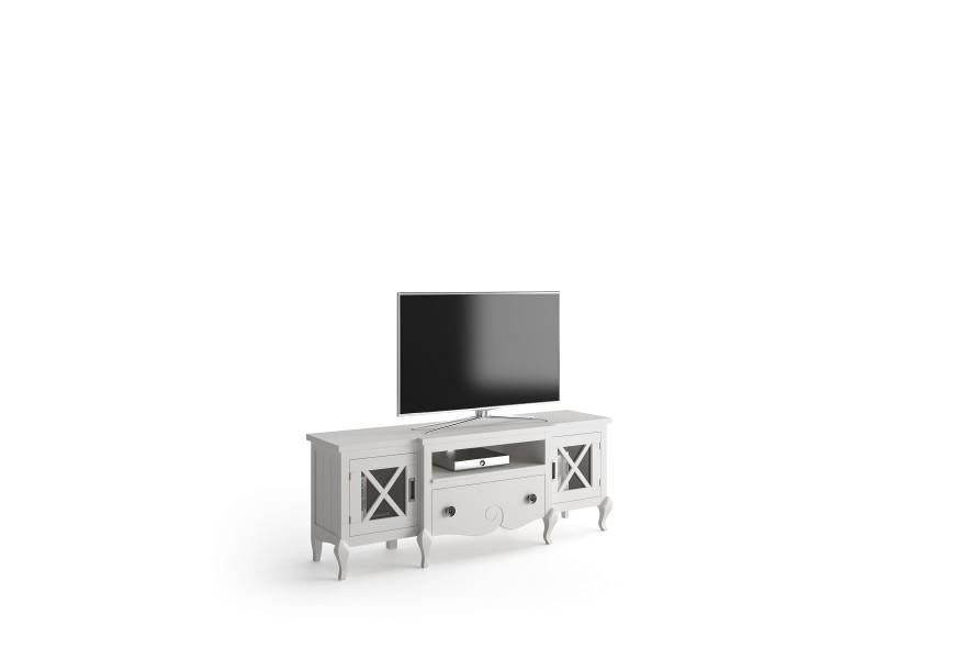 Elegantný TV stolík z masívneho dreva prvotriednej kvality
