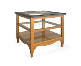 Štýlový príručný stolík FONTANA z masívu
