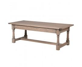 Vidiecky drevený konferenčný stolík KOLONIAL obdĺžnikový