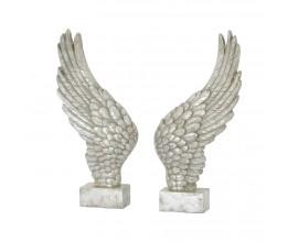 Anjelské krídla 50cm v antickej striebornej farbe