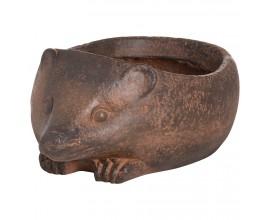 Originálny bronzový kvetináč Hedgehog