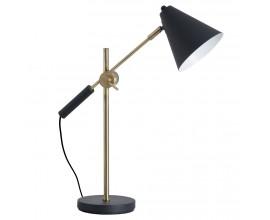 Dizajnová nastaviteľná pracovná lampa čierna/zlatá