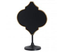 Atypická kovová Vintage tabuľa čierna/bronzová