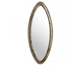 Dizajnové oválne nástenné zrkadlo Antique III