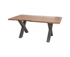 Masívny jedálenský stôl Live Edge 180cm