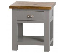 Štýlový šedý príručný stolík Byland