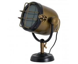 Industriálna stolná lampa Spotlight mosadzná/čierna