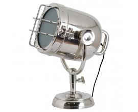 Industriálna stolná lampa Spotlight nikel