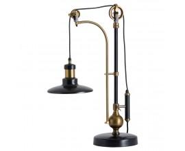 Atypická industriálna stolná lampa Hudson 74cm