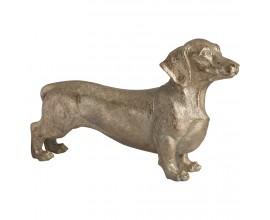 Štýlová kovová soška psa