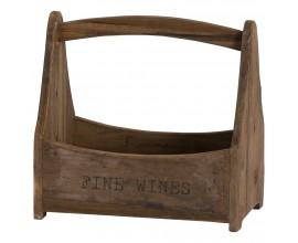 Rustikálna nádoba na víno z masívneho dreva