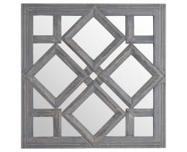 Originálne vyrezávané zrkadlo s ozdobným geometrickým rámom