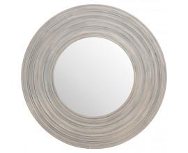 Jedinečné okrúhle vyrezávané zrkadlo 91cm